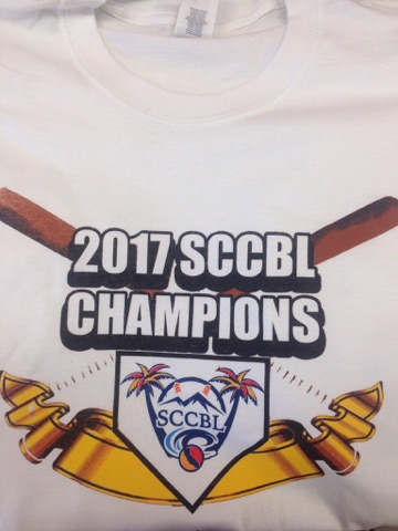 2017 SCCBL Championship Shirts Are Available!